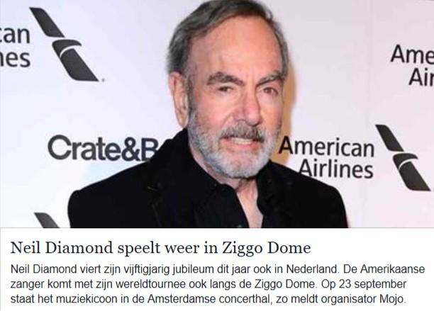 Neil komt naar Nederland | De Neil Diamond club